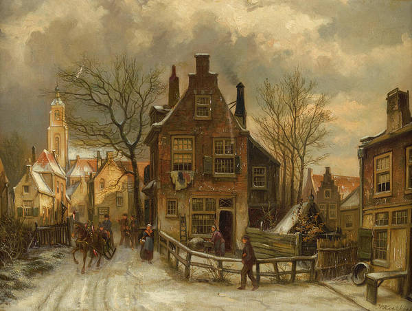 Wall Art - Painting - A Winter's Day by Willem Koekkoek