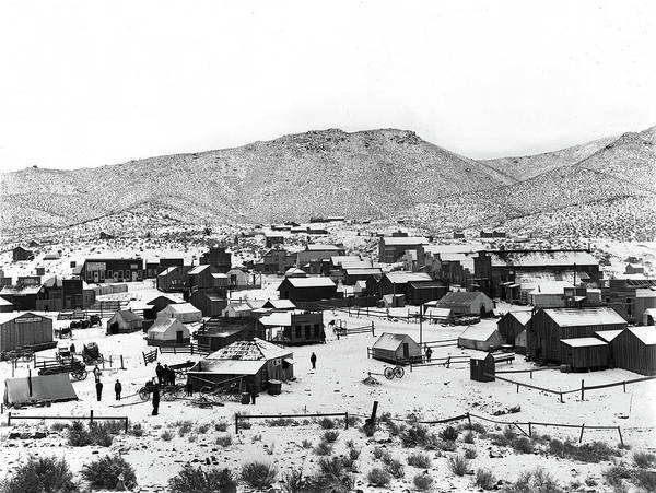Photograph - A Wintery View Of Randsburg, Ca - Circa. 1900 by Doc Braham