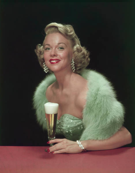 Photograph - A Woman & Her Beer by Tom Kelley Archive