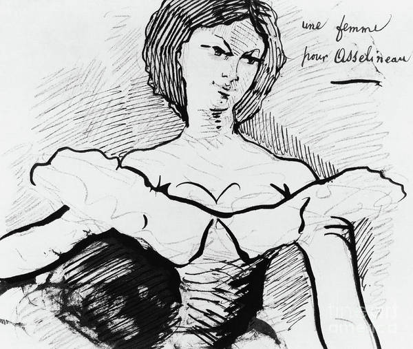 Wall Art - Drawing - A Woman For Asselineau  by Charles Baudelaire