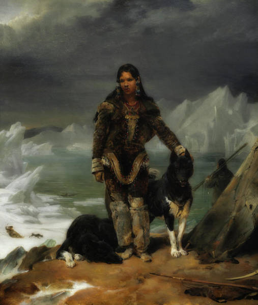 Wall Art - Painting - A Woman From The Lands Of Eskimos by Leon Cogniet