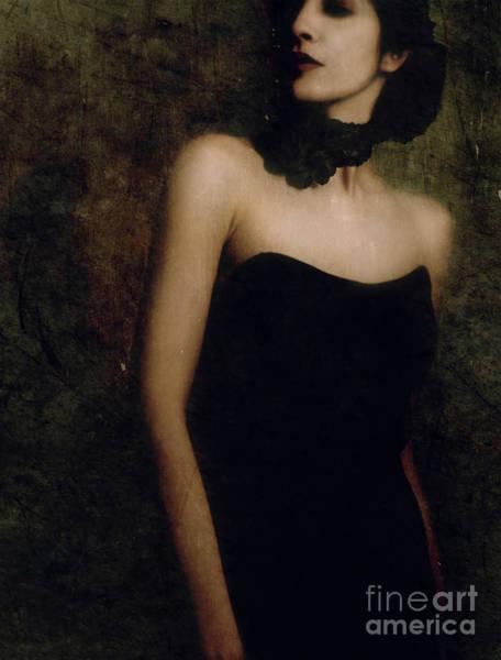 Wall Art - Photograph - A Woman Wearing A Black Dress And Necklace by Jelena Jovanovic