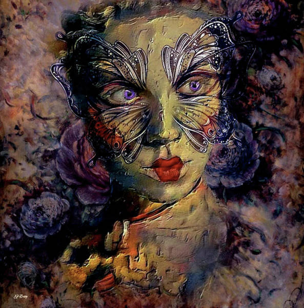 Joyous Mixed Media - A Woman's Face Wears Many Masks 002 by G Berry