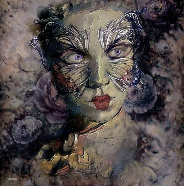 Joyous Mixed Media - A Woman's Face Wears Many Masks by G Berry