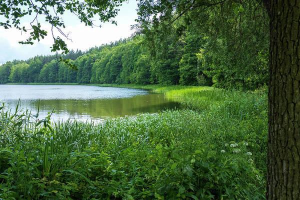 Photograph - a wonderful lake near Swieta Lipka chaple by Dubi Roman