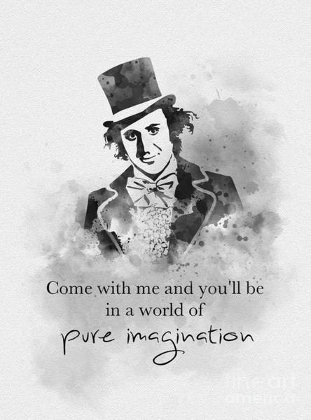 Wall Art - Mixed Media - A World Of Pure Imagination Black And White by My Inspiration