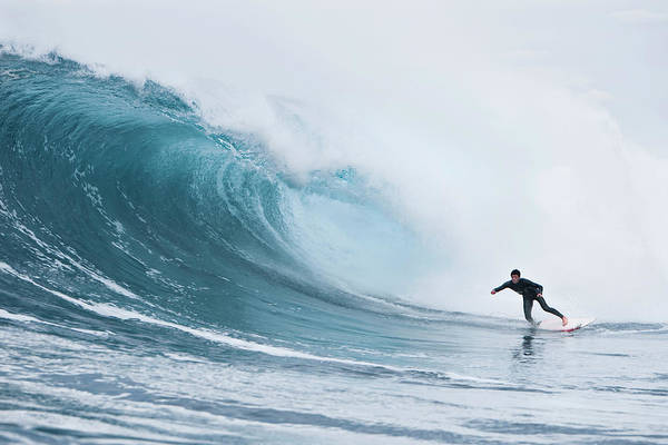 Photograph - A Young Man Surfing At Shipsterns by Sean Davey