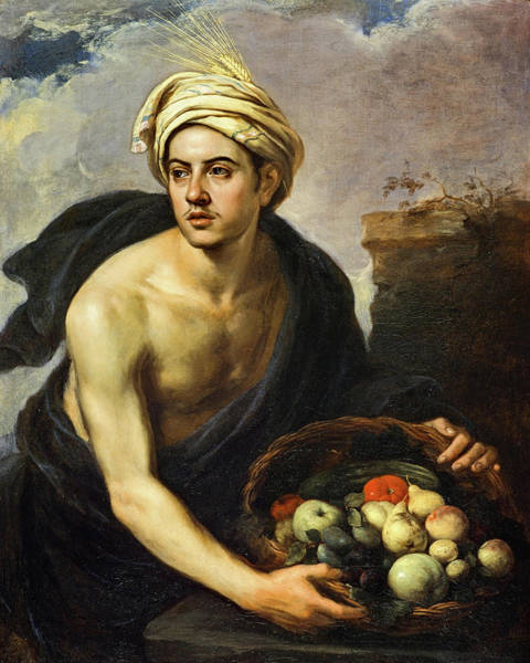 Barley Painting - A Young Man With A Basket Of Fruit, 1650 by Bartolome Esteban Murillo