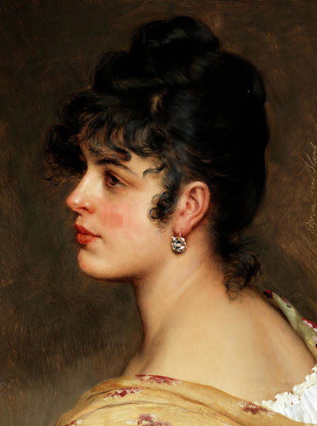 Wall Art - Painting - A Young Woman by Eugene de Blaas