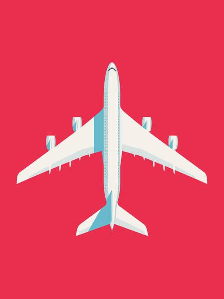 A380 Wall Art - Digital Art - A380 Super Jumbo Jet Airliner - Crimson by Ivan Krpan