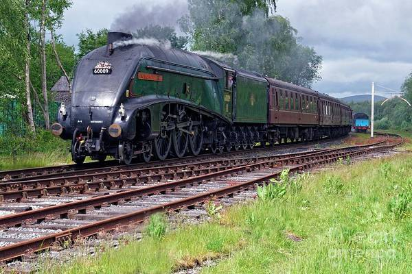 Photograph - A4 Pacific 60009 Union Of South Africa by David Birchall