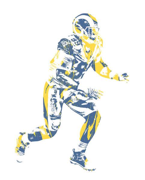 Wall Art - Mixed Media - Aaron Donald Los Angeles Rams Pixel Art 14 by Joe Hamilton