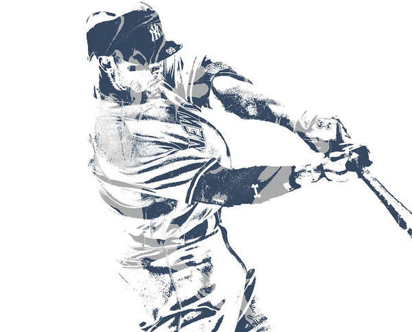 Wall Art - Mixed Media - Aaron Judge New York Yankees Pixel Art  20 by Joe Hamilton