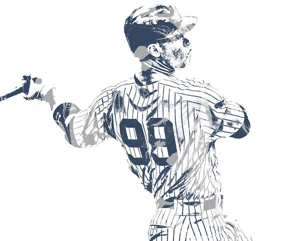 Wall Art - Mixed Media - Aaron Judge New York Yankees Pixel Art 22 by Joe Hamilton