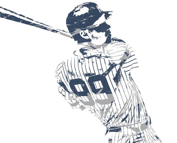Wall Art - Mixed Media - Aaron Judge New York Yankees Pixel Art 23 by Joe Hamilton
