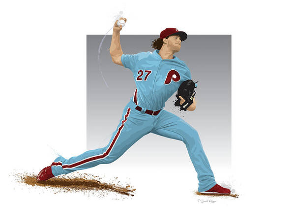 Citizens Bank Park Wall Art - Digital Art - Aaron Nola by Scott Weigner