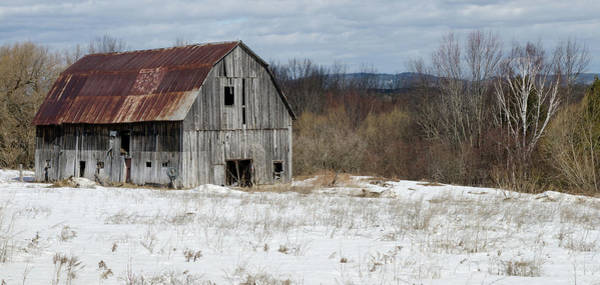 Photograph - Abandoned Barn In Spring by Rob Huntley