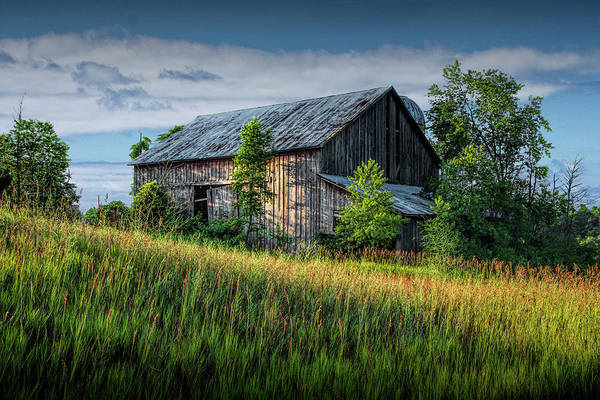 Wall Art - Photograph - Abandoned Barn On A Farm In The Early Morning Sunlight by Randall Nyhof