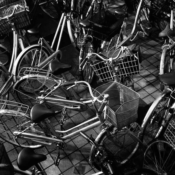 Bicycle Photograph - Abandoned Bicycles by Shinya Arimoto