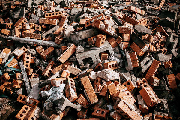 Wall Art - Photograph - Abandoned Bricks by Hyuntae Kim
