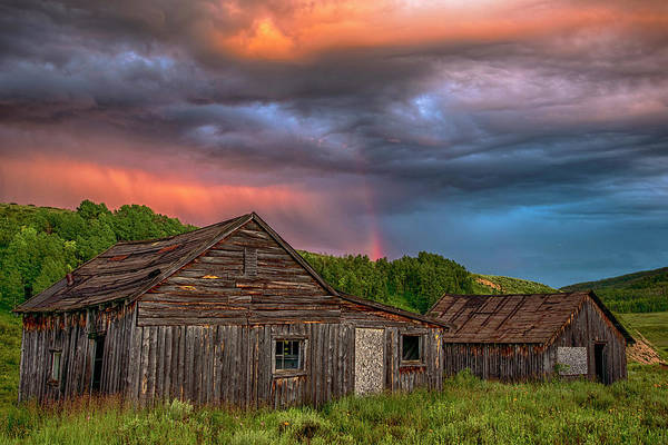 Wall Art - Photograph - Abandoned Cabin And Rainbow 2 by Dave Dilli