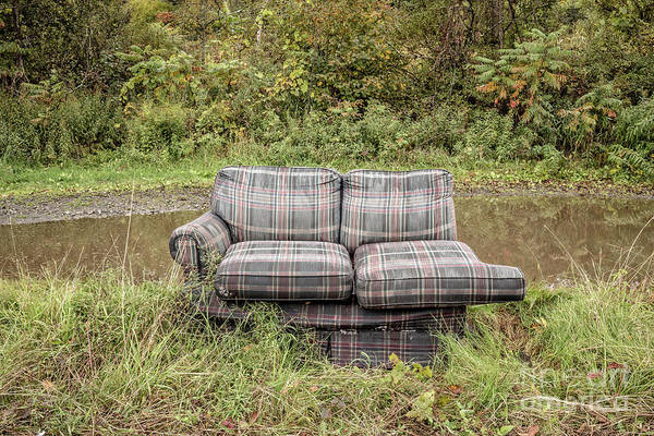 Photograph - Abandoned Couch by Edward Fielding