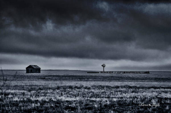 Photograph - Abandoned Farmhouse by Karen Slagle