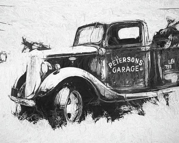 Wall Art - Digital Art - Abandoned Ford Tow Truck by David King