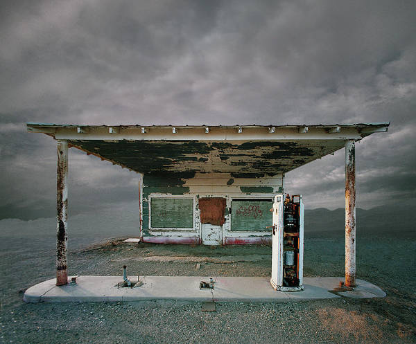Abandoned Gas Station, Niland Ca Art Print