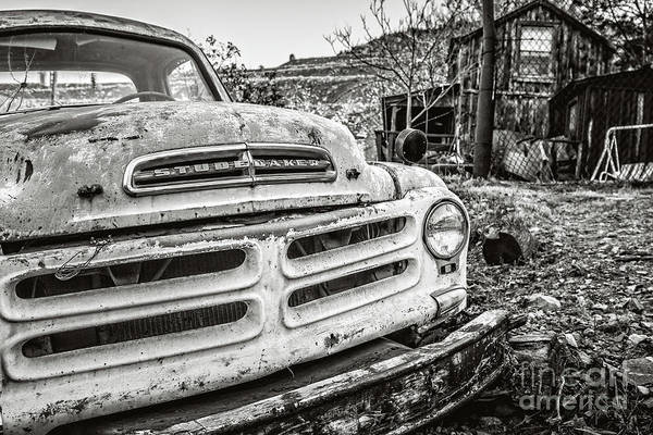 Wall Art - Photograph - Abandoned Ghost Town Studebaker Truck by Edward Fielding
