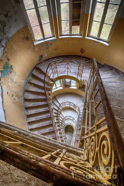 Wall Art - Photograph - Abandoned House Staircase by Katharina Muchow