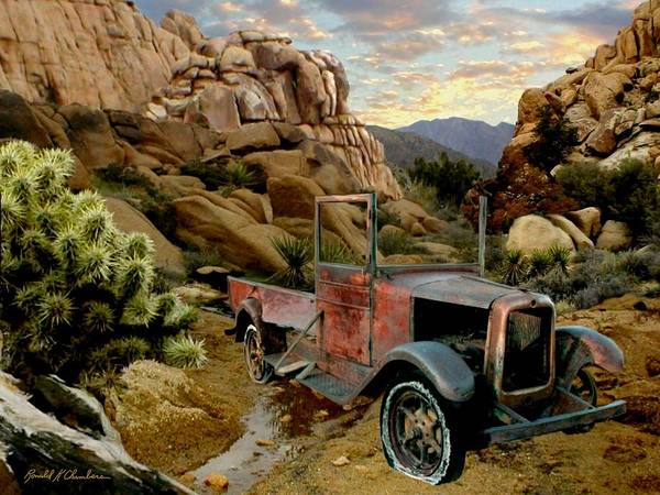 Wall Art - Painting - Abandoned In The Desert by Ron Chambers