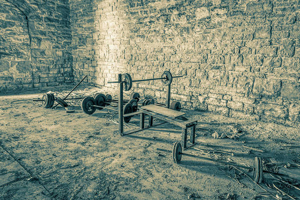Wall Art - Photograph - Abandoned Joliet Prison Gym by Mike Burgquist