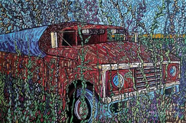 Painting - Abandoned Oil Truck  by Michael Graham