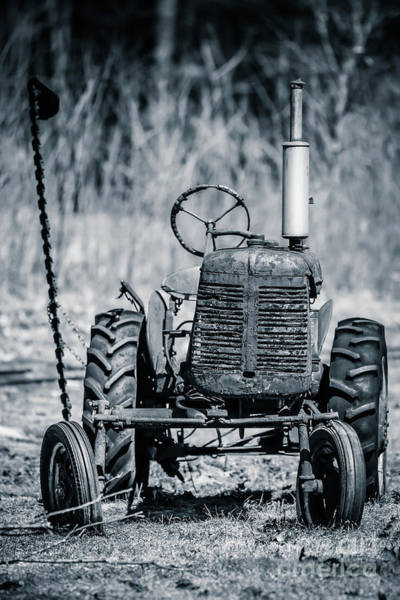 Wall Art - Photograph - Abandoned Old Farm Tractor by Edward Fielding