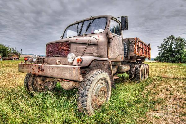 Wall Art - Photograph - Abandoned Old Rusty Truck Praga V3s by Michal Boubin