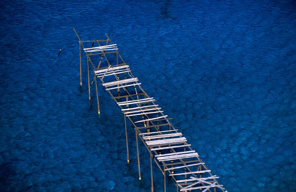 Sicily Photograph - Abandoned Pumice Quarry Jetty by Dallas Stribley