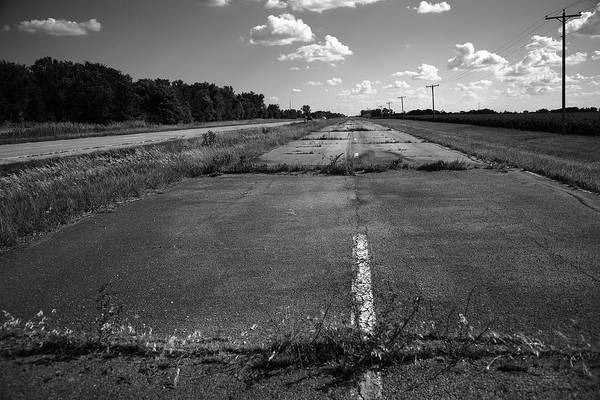 Photograph - Abandoned Route 66 Circa 2012 Bw by Frank Romeo