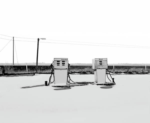 Crisis Photograph - Abandoned Service Station by Wonderlust Industries
