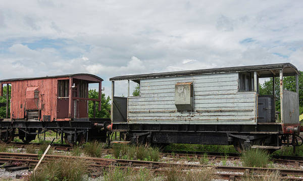 Photograph - Abandoned Train Carriages  by Scott Lyons