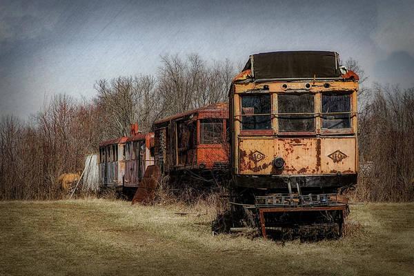 - Vintage Cars Photograph - Abandoned Train by Tom Mc Nemar