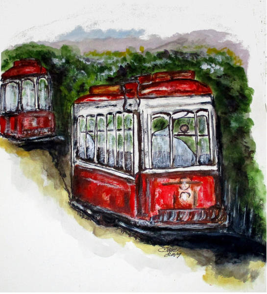 Painting - Abandoned Trolley by Clyde J Kell