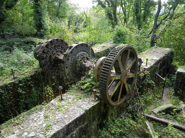 Wall Art - Photograph - Abandoned Waterwheel Luxulyan Valley Cornwall by Richard Brookes