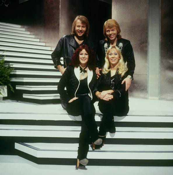 Photograph - Abba Perform On A Tv Show by David Redfern