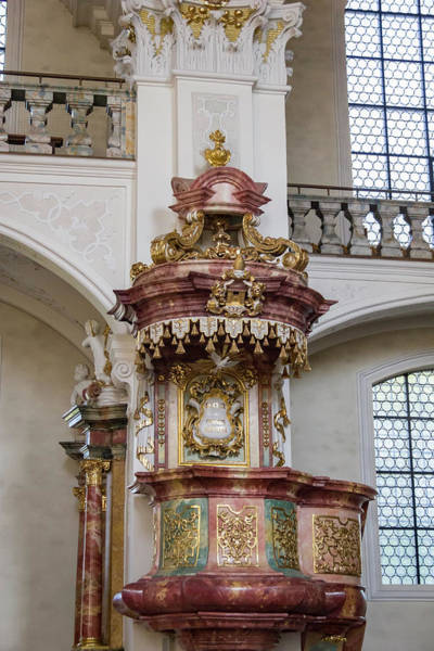 Wall Art - Photograph - Abbey Of Saint Peter Pulpit by Teresa Mucha
