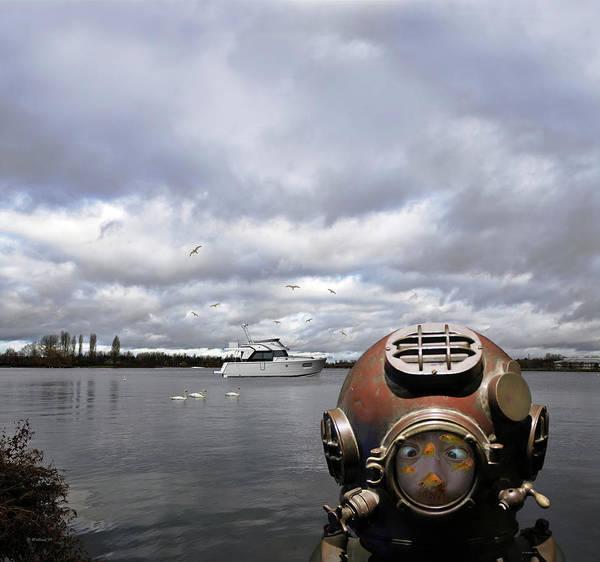Swan Boats Digital Art - Abbie's Edit Challenge 8b by Brian Wallace