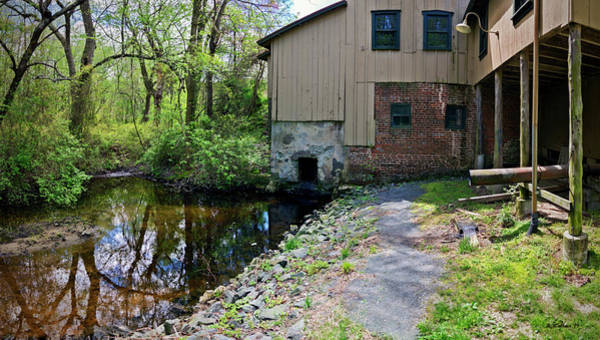 Wall Art - Photograph - Abbott's Mill Back View Pano by Brian Wallace