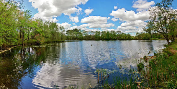 Wall Art - Photograph - Abbott's Mill Pond Panorama by Brian Wallace