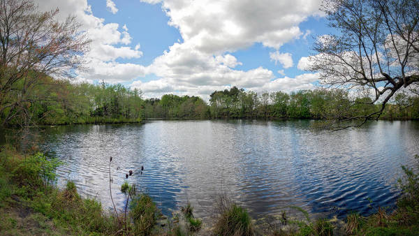 Wall Art - Photograph - Abbott's Mill Pond Panoramic by Brian Wallace