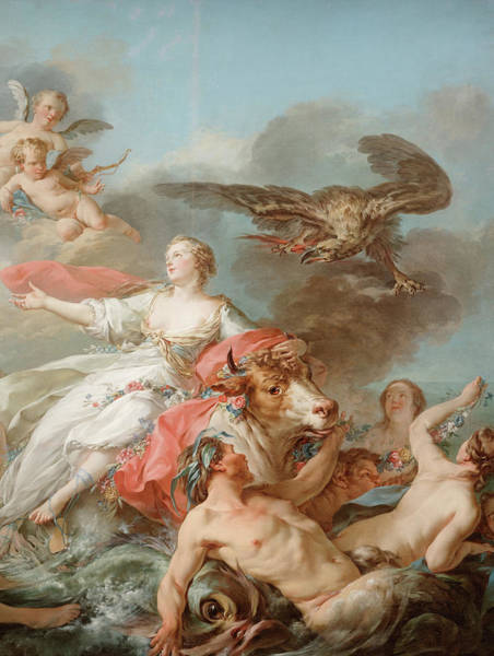 Abduction Painting - Abduction Of Europa by Jean Baptiste Marie Pierre